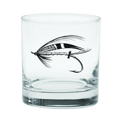 Rep Your Water : Salmon Fly Old Fashioned Glass