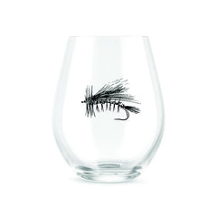 Rep Your Water: Dry Fly Stemless Wine Glass