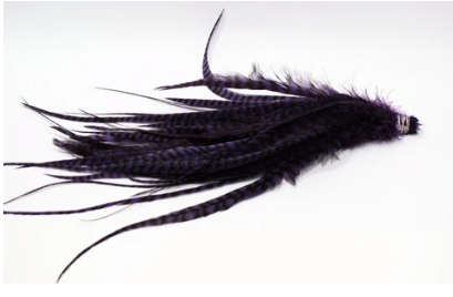 """Fly Tying-Whiting Schlappen Bundle 6-10/"""" Grizzly dyed Purple"""