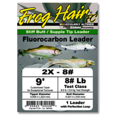 Frog Hair Fluorocarbon Tapered Leader