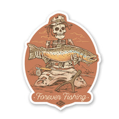 LRS: Sticker - Forever Fishing Brown Trout
