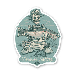LRS: Sticker - Forever Fishing Steelhead