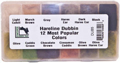 Dubbing: Hareline Dubbin 12 Most Popular Colors Dispenser