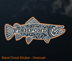 Fishpond Sticker - Maori Trout 7""