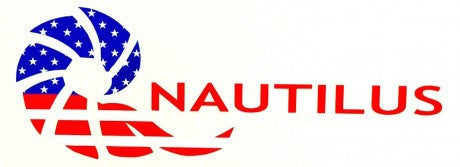 Nautilus Reels Sticker: Die Cut Logo USA Flag