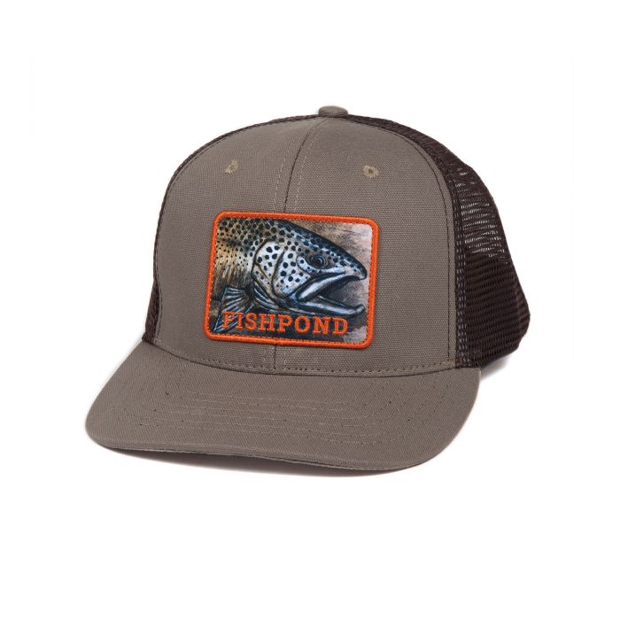 Fishpond Slab Trucker Hat - Sandstone/Brown