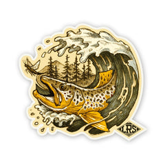 LRS: Sticker - Brown Trout Wave