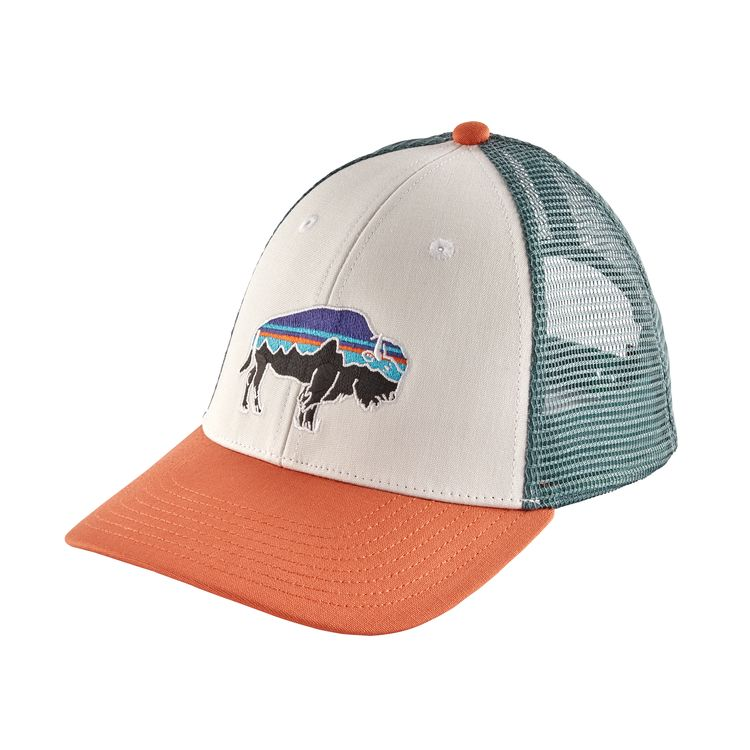 34a97c53e95 Patagonia Hat - Fitz Roy Bison LoPro Trucker Hat