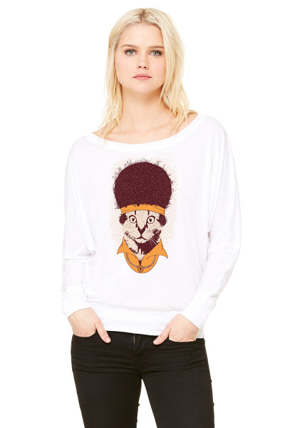 Disco Kitty Long Sleeve Dolman - Adventure Kitty  - 1