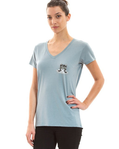 Kitten in a Pocket Tee - Adventure Kitty  - 1