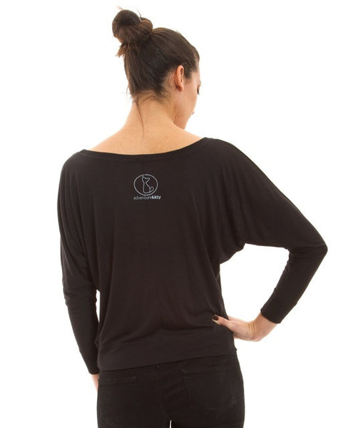 Sultry Sphinx Long Sleeve Dolman - Adventure Kitty  - 3