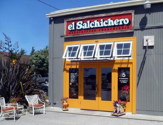 The front door to el Salchichero