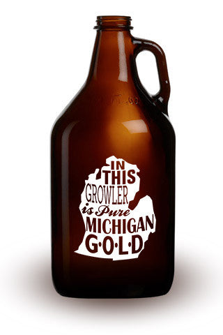 Pure Michigan Gold - 64 oz. Amber Growler