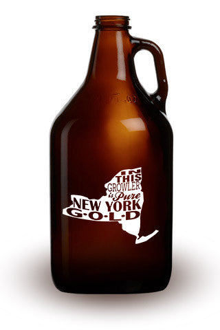 Pure New York Gold - 64 oz. Amber Growler