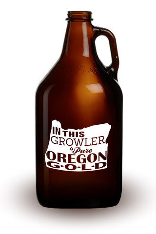Pure Oregon Gold - 64 oz. Amber Growler