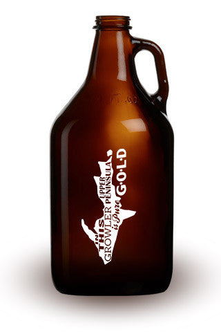 Pure Upper Peninsula Gold - 64 oz. Amber Growler
