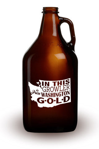 Pure Washington Gold - 64 oz. Amber Growler
