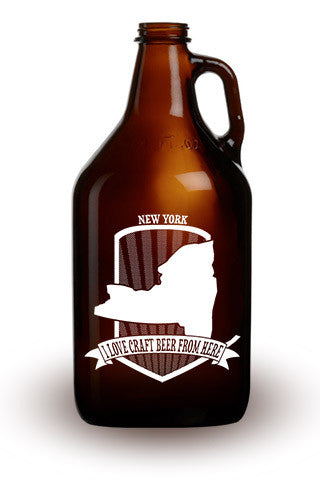 I Love Craft Beer from New York - 64 oz. Amber Growler
