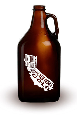 Pure California Gold - 64 oz. Amber Growler