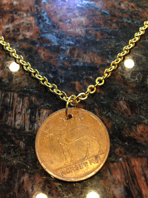 Norway 5 Ore Coin Necklace