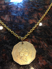 Belize 1 dollar coin necklace