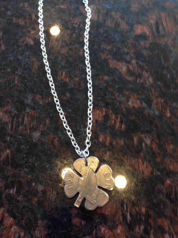 Ireland Large 10 Pence 4 Leaf Clover Cut Coin...