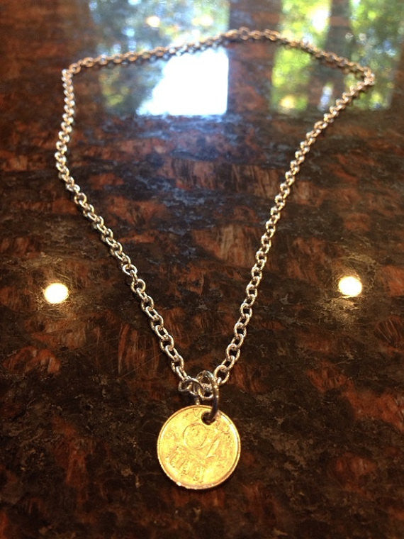 Netherlands 10 Cents Coin Necklace