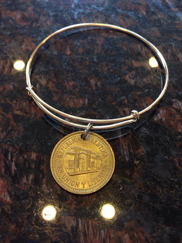 """Argentina 50 centavos expandable wire bangle bracelet	"""