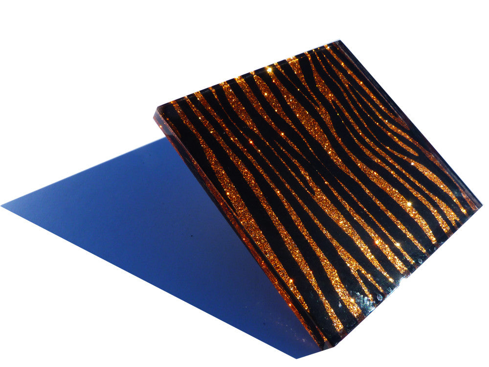 Burnt Orange Zebra Coasters 4-pack