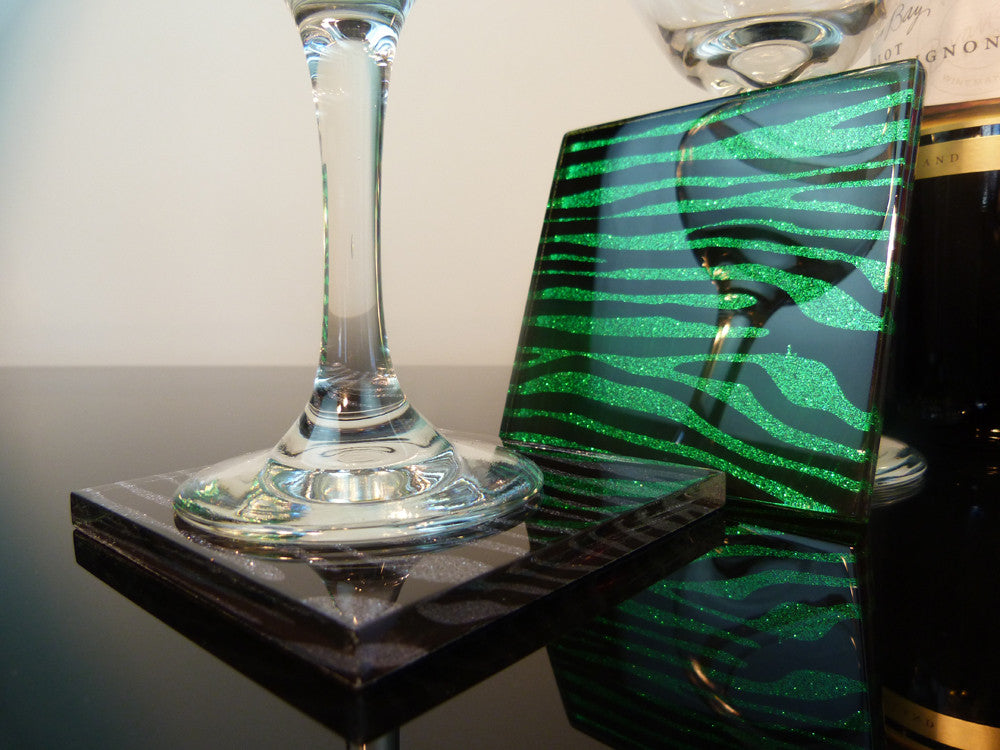 Emerald City Zebra Coasters 2-pack
