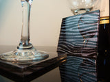 Gun Metal Zebra Coasters 2-pack