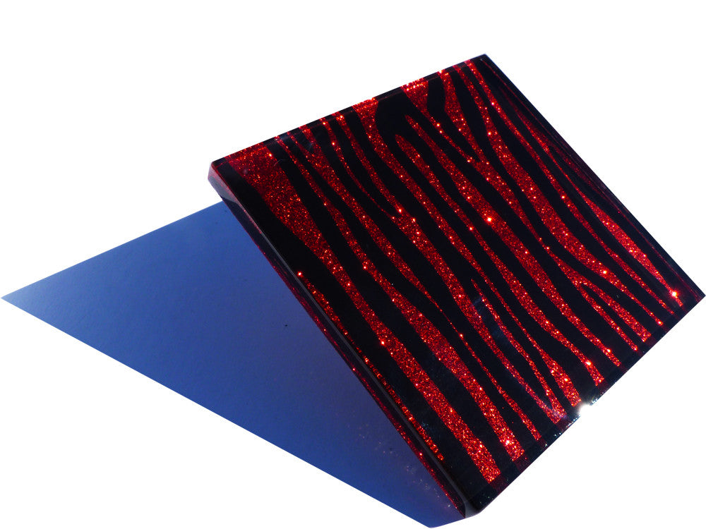 Toffee Apple Zebra Coasters 4-pack