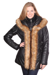 CHRISTIAN NY JENNY LEATHER PARKA
