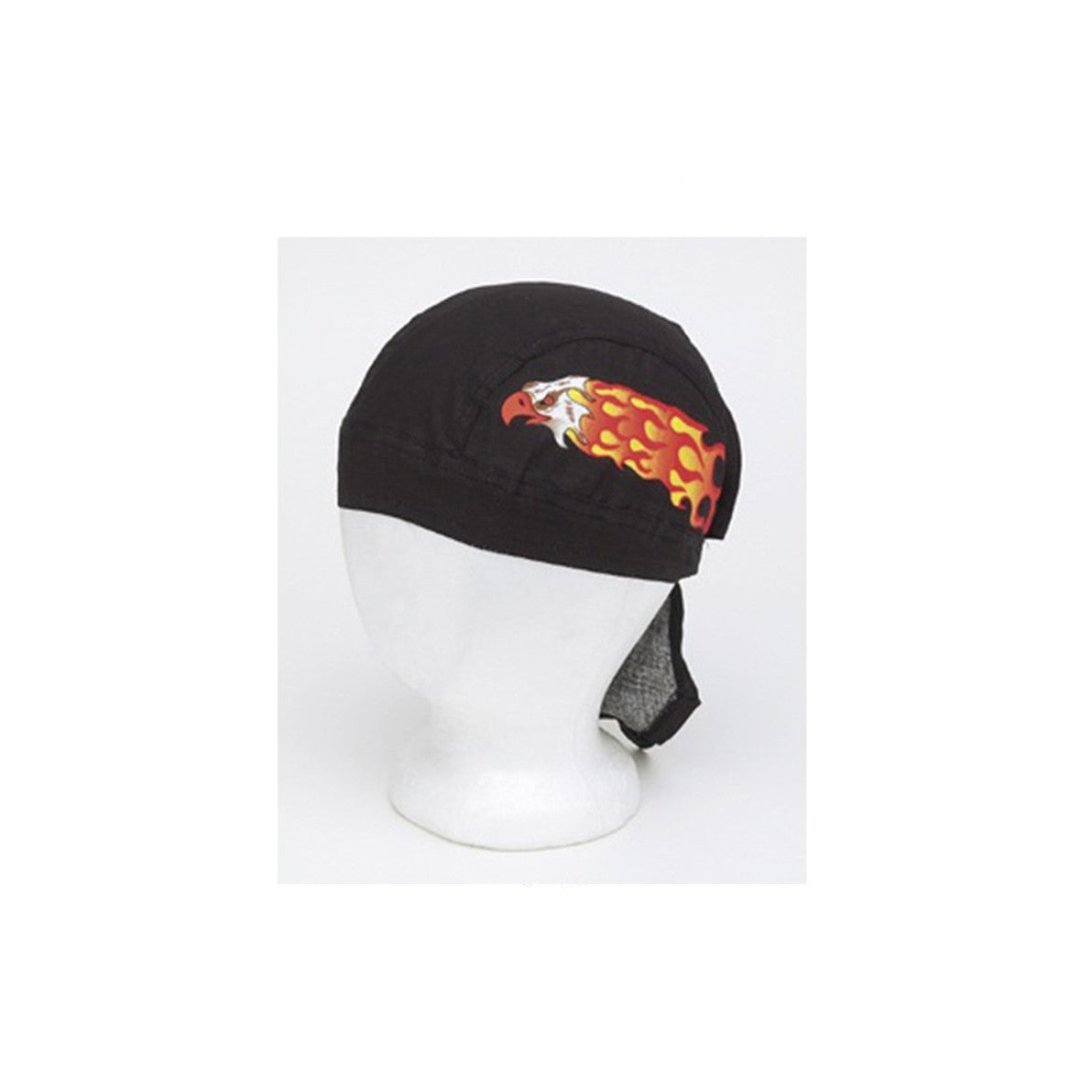 Cotton Skull Cap with Eagle in Flames