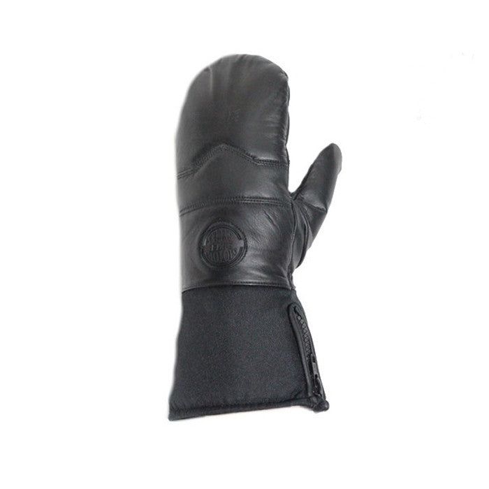 Long Leather Mittens