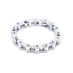 "3/8"" Stainless Steel Single Link Chain Bracelet"