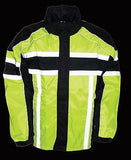 MEN'S MOTORCYCLE MOTORBIKE 100% NYLON RAIN SUIT GEAR BLACK & GREEN DURABLE NEW
