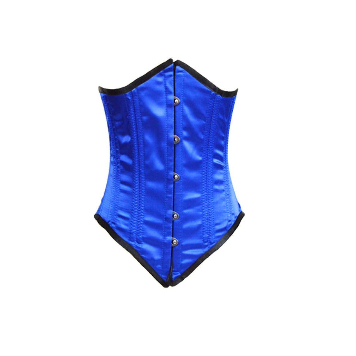 LADIES BLUE SATIN CORSET