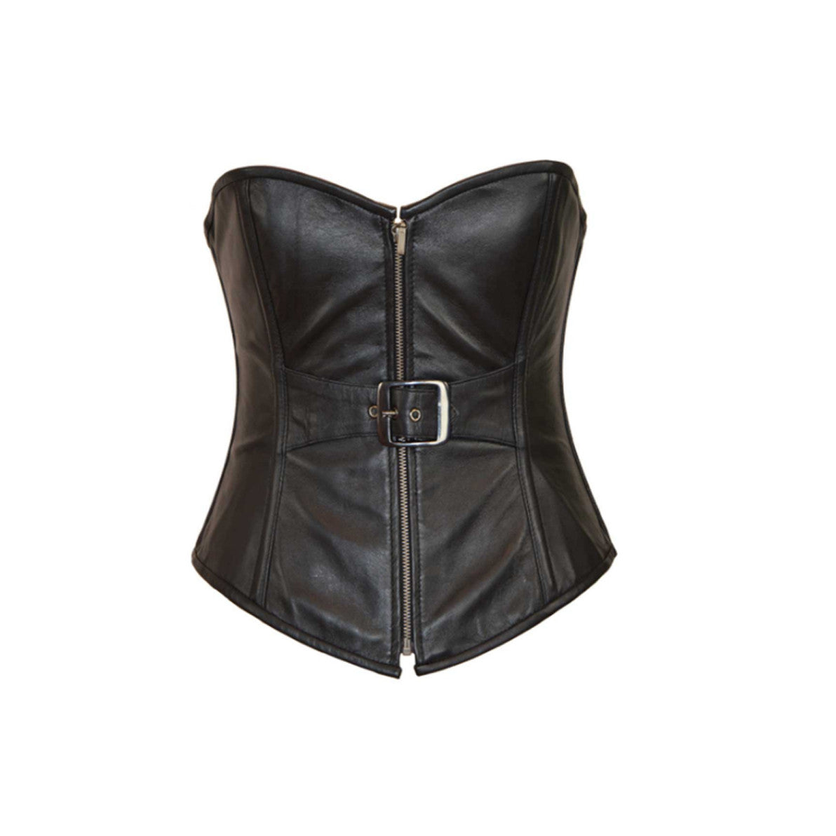 LADIES CORSET 1 BUCKLE ZIP FRONT