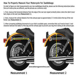 MOTORCYCLE 2 STRAP LEFT SIDE SWING ARM PVC SADDLEBAG