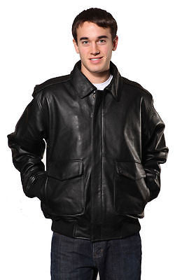 MEN'S COW HIDE LEATHER FLIGHT BOMBER LEATHER JACKET NAPA LEATHER DURABLE LEATHER