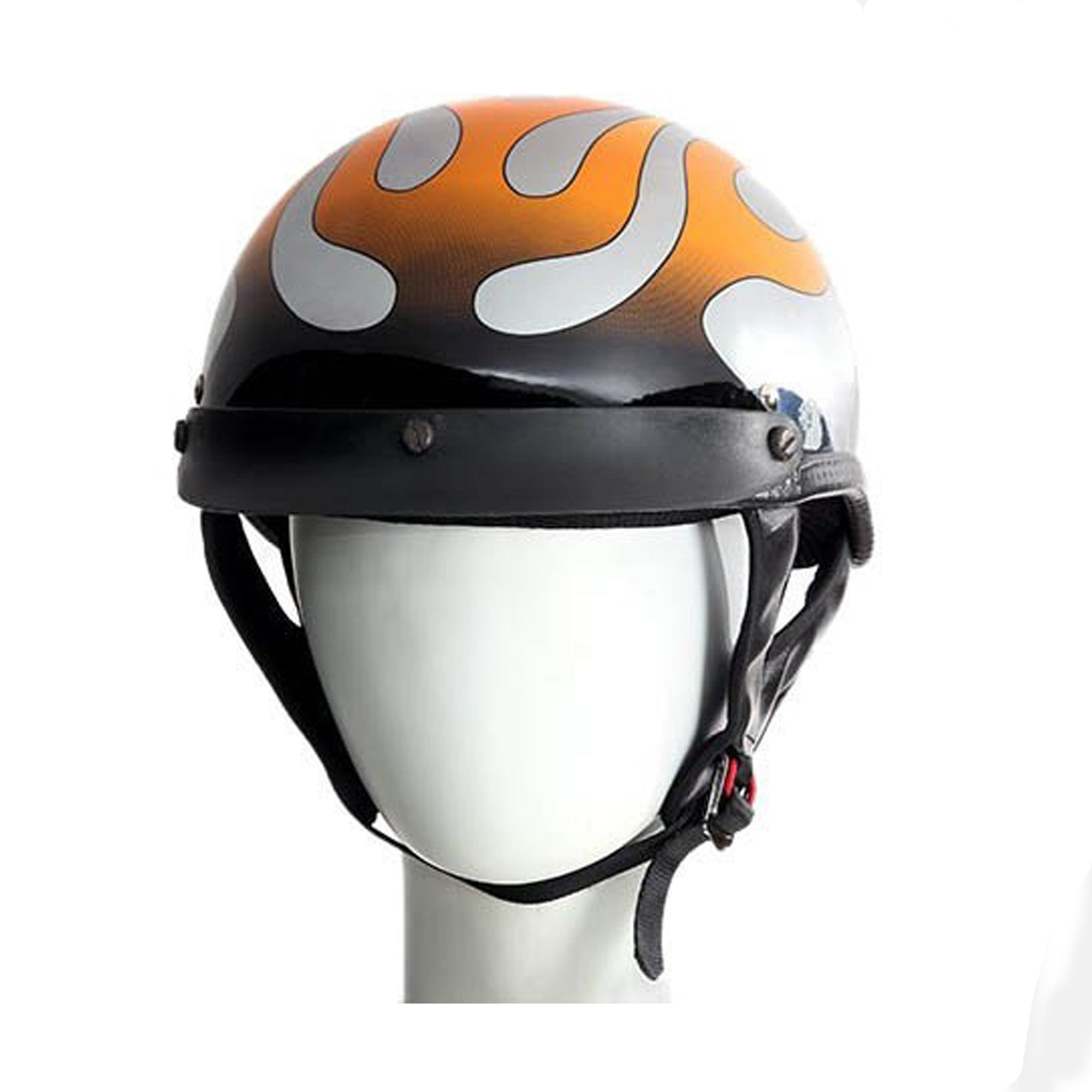 RIDING 200 CHROME FLAME GRAPHIC DOT APPROVED HELMET