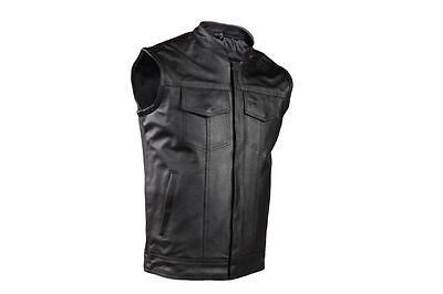 Dealer Leather MENS MOTORCYCLE DISTRESSED BROWN SON OF ANARCHY STYLE LEATHER VEST AMAZING 40 Regular