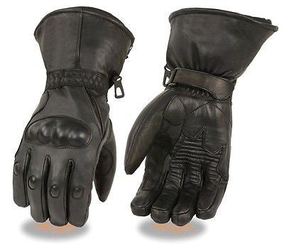 MOTORCYCLE MEN'S RIDING GLOVES WATERPROOF COW LEATHER GAUNTLET