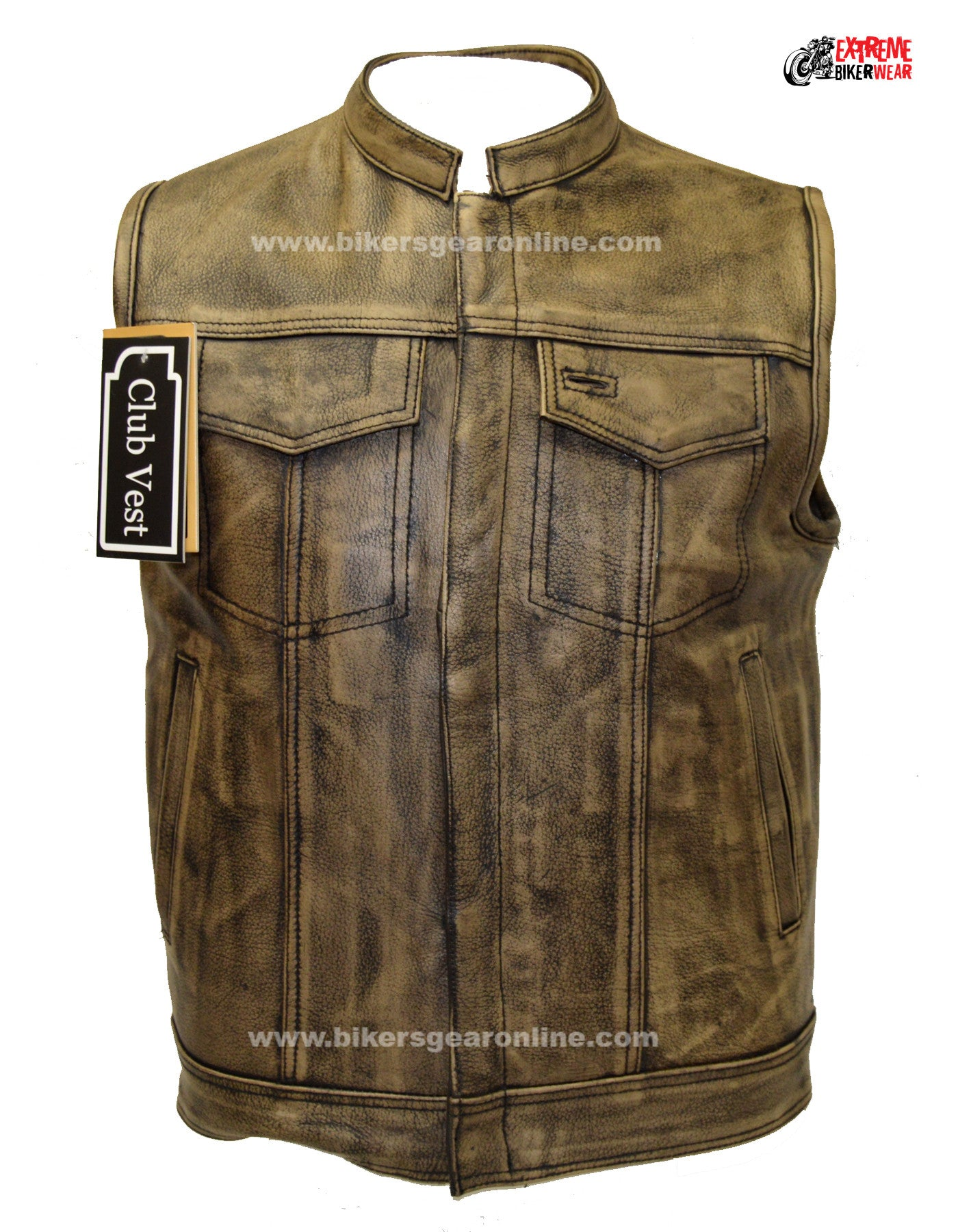 MOTORCYCLE DISTRESSED BROWN SOFT LEATHER CHAP FULLY LINED W/ 4 POCKET SNAP ZIP Auto e moto: ricambi e accessori