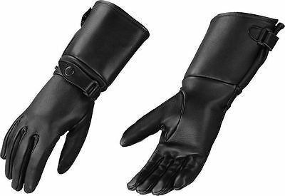 WOMEN'S GENUINE LEATHER AMERICAN DEER SKIN GLOVES ULTRA LONG GAUNTLET BLACK NEW
