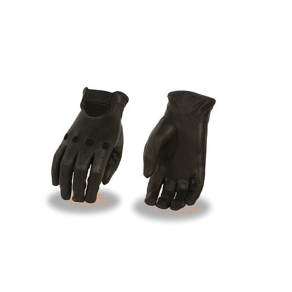 WOMEN'S PEFORATED UNLINED DRIVING GLOVES W/KNUCKLE CUTS OUT & WRIST STRAP SOFT