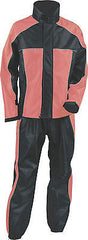 LADIES WOMEN'S MOTORCYCLE RAIN SUIT RAIN GEAR PINK/ BLACK WATERPROF LIGHTWEIGHT