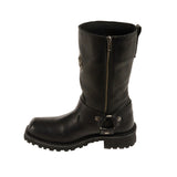 MEN'S WIDE MOTORCYCLE GENUINE WATERPROOF COW LEATHER 11 INCH LONG SQUARE BOOT