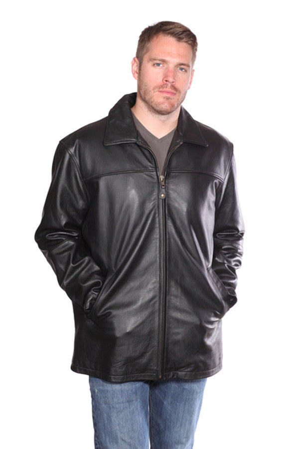 Christian NY Camden Leather Hipster Coat